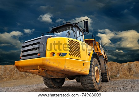 Huge Sand Dump Truck - stock photo