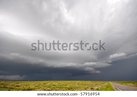 Huge storm approaching - stock photo