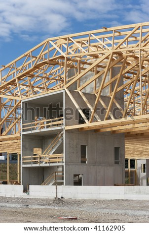 Huge warehouse with nice timber work