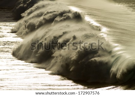 huge wave - stock photo