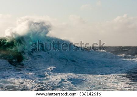 Huge Wave Crashing Down - stock photo