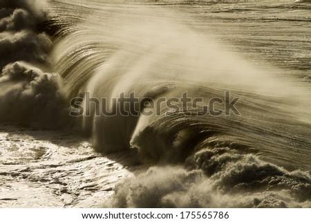 huge wave - La Palma - stock photo