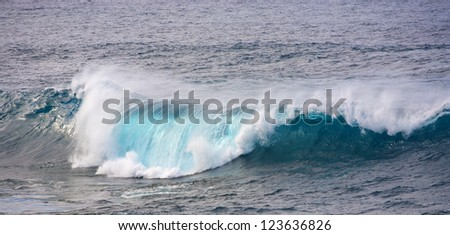 huge waves in the ocean near Los Hervideros, Lanzarote