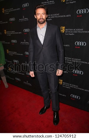 Hugh Jackman at the BAFTA Los Angeles 2013 Awards Season Tea Party, Four Seasons Hotel, Los Angeles, CA 01-12-13 - stock photo