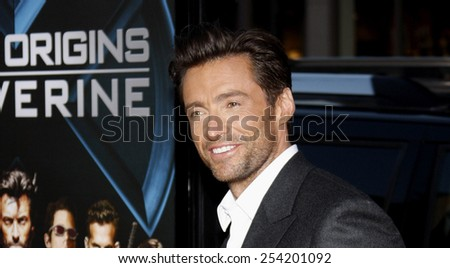 "Hugh Jackman at the Los Angeles Premiere of ""X-Men Origins: Wolverine"" held at the Grauman's Chinese Theatre in Hollywood, California, United States on April 28, 2009. - stock photo"