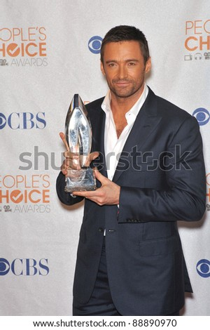 Hugh Jackman at the 2010 People's Choice Awards at the Nokia Theatre L.A. Live in Los Angeles. January 6, 2010  Los Angeles, CA Picture: Paul Smith / Featureflash - stock photo