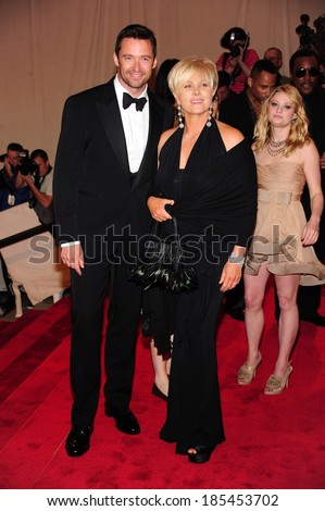 Hugh Jackman, Deborra-Lee Furness at American Woman Fashioning a National Identity Benefit Gala Co-Hosted by GAP for the Costume Institute, The Metropolitan Museum of Art, New York May 3, 2010