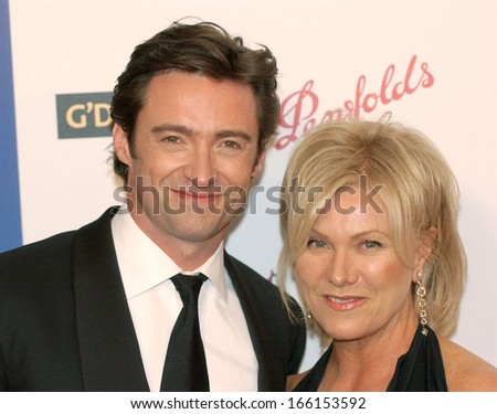 Hugh Jackman, Deborra-Lee Furness at Penfolds Icon Gala G'DAY LA Australia Week 2006 Dinner, The Hollywood Palladium, Los Angeles, CA, Saturday, January 14, 2006 - stock photo
