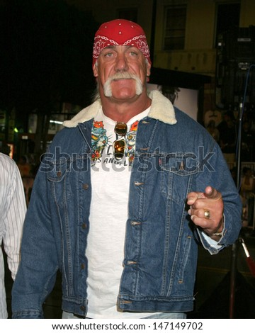 Hulk Hogan at the Get Rich or Die Trying Premiere Grauman's Chinese Theater Los Angeles, CA November 2, 2005 - stock photo