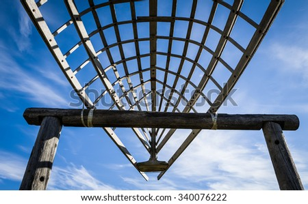 hull of a boat, Alaska - stock photo