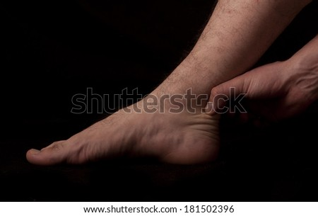 Human anatomy series: achilles' tendon - stock photo