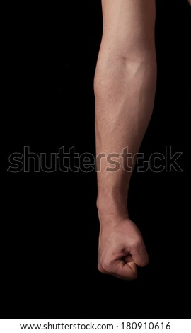 Human anatomy series: clenched fist - stock photo