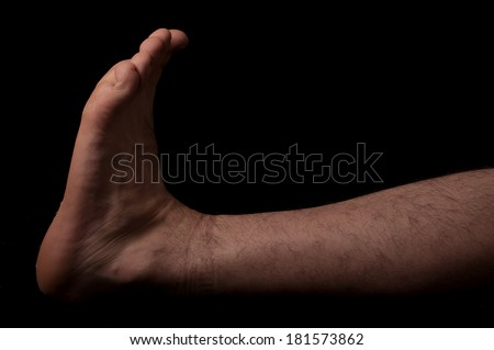 Human anatomy series: Dorsal flexion - stock photo