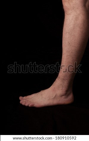 Human anatomy series: foot - stock photo