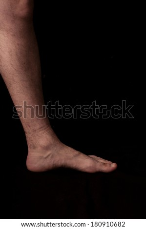 Human anatomy series: foot - stock photo