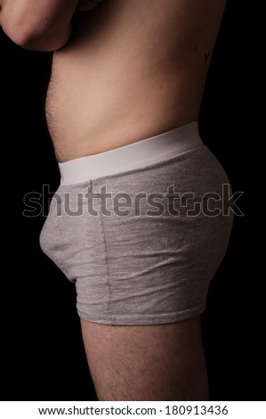 Human anatomy series: mid section - stock photo