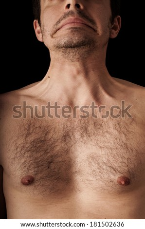Human anatomy series: platysma - stock photo