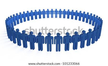 human circle - stock photo