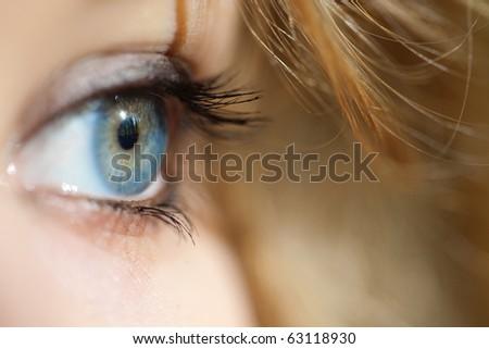 Human eye. - stock photo
