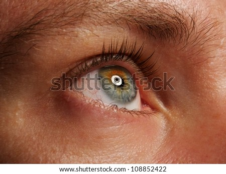 Human eye close up - stock photo