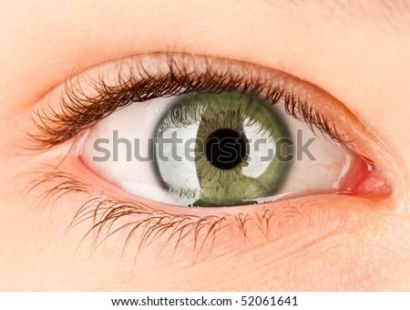 Human eye close up ... - stock photo