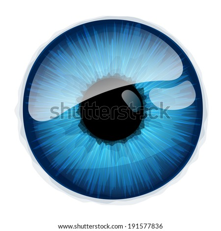 Human eye iris isolated on white background. Raster version. - stock photo