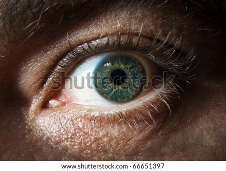 Human eye. macro - stock photo