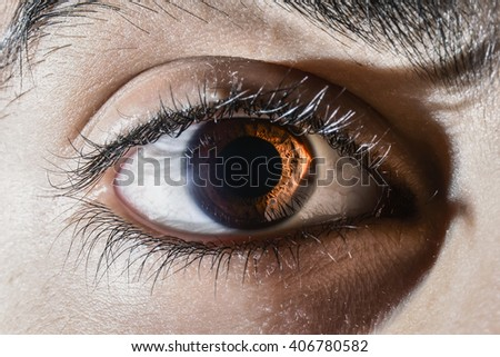 human eye macro shot - stock photo