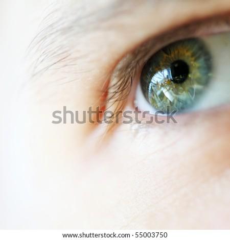 Human eye. macro. Soft focus, - stock photo