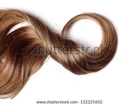human hair on white background - stock photo