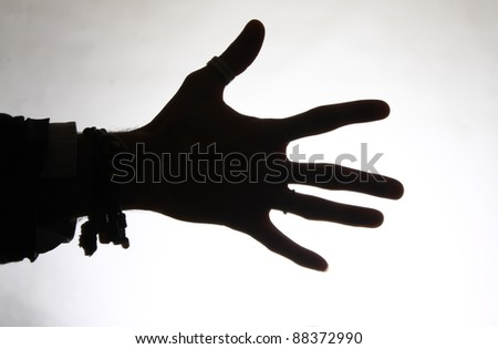 human hand - stock photo