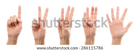 Human Hand, Counting, Human Finger.