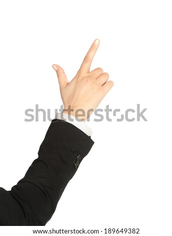 human hand on empty background