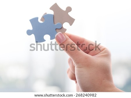 Human Hand, Puzzle, Jigsaw Piece.