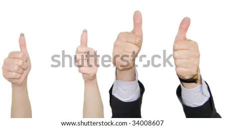 human hands showing okay sign