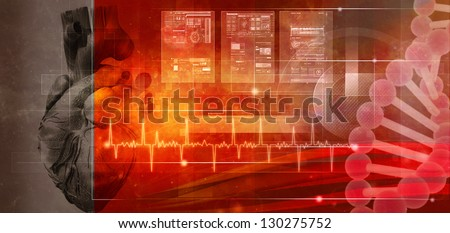 Human health. Abstract medicine and healthy backgrounds - stock photo