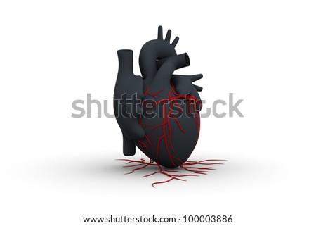 Human heart NEW CONCEPT - stock photo