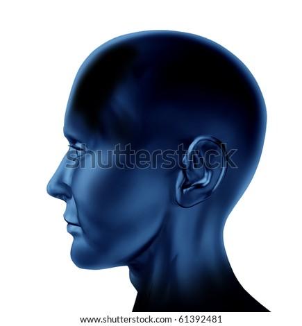 Human mind head blank - stock photo