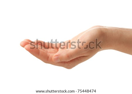 human palm isolated on white