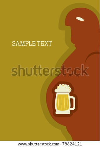 Human passion about beer.Symbol of alcohol.Raster - stock photo