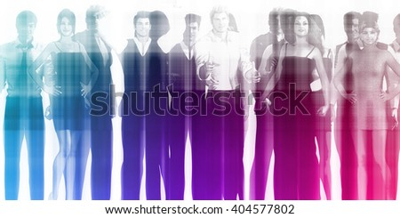 Human Resource Management as a Business Concept 3D Illustration Render - stock photo