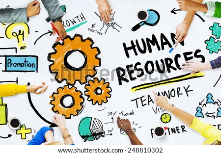 Human Resources Employment Job Teamwork Office Meeting Concept - stock photo