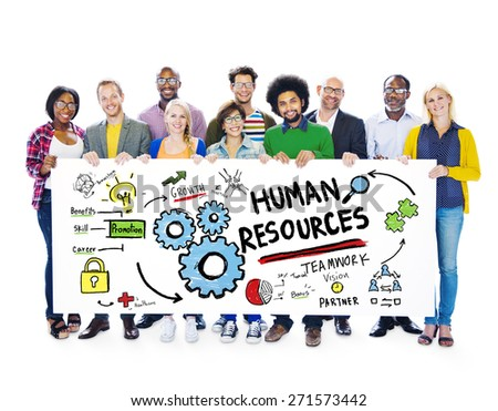 Human Resources Employment Job Teamwork People Banner Concept - stock photo