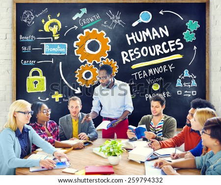 Human Resources Employment Teamwork Study Education Learning Concept - stock photo