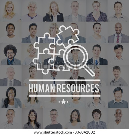 Human Resources Hiring Employment Contact Concept - stock photo