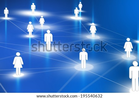 Human resources network - stock photo