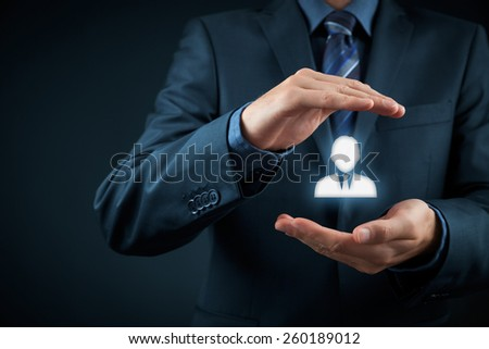Human resources officer choose employee standing out of the crowd. Select team leader with concept. Marketing customer targeting concept.