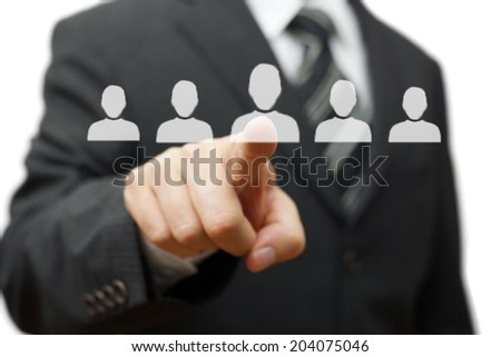 Human resources,partnership,choosing partner - stock photo