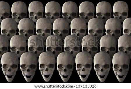 Human skull - stock photo