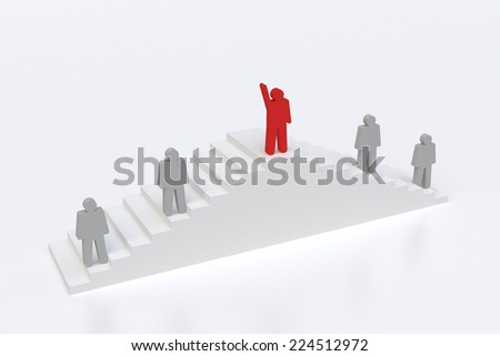 human stand out of the crowd